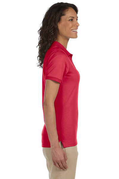Jerzees 437W Womens SpotShield Stain Resistant Short Sleeve Polo Shirt Red Side
