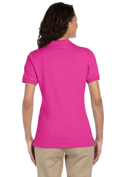 Jerzees 437W Womens SpotShield Stain Resistant Short Sleeve Polo Shirt Cyber Pink Back