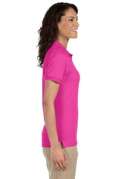 Jerzees 437W Womens SpotShield Stain Resistant Short Sleeve Polo Shirt Cyber Pink Side