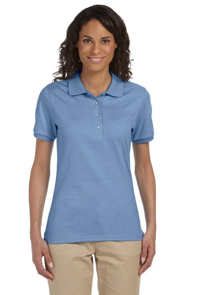 Jerzees 437W Womens SpotShield Stain Resistant Short Sleeve Polo Shirt Light Blue Front