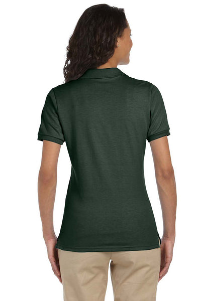 Jerzees 437W Womens SpotShield Stain Resistant Short Sleeve Polo Shirt Forest Green Back