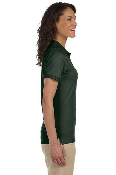 Jerzees 437W Womens SpotShield Stain Resistant Short Sleeve Polo Shirt Forest Green Side