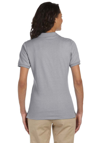 Jerzees 437W Womens SpotShield Stain Resistant Short Sleeve Polo Shirt Oxford Grey Back