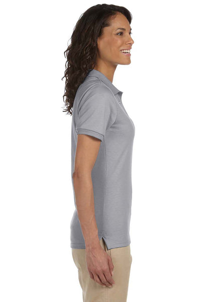 Jerzees 437W Womens SpotShield Stain Resistant Short Sleeve Polo Shirt Oxford Grey Side
