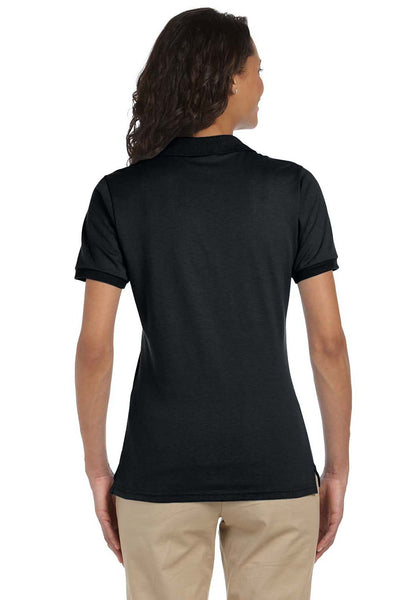 Jerzees 437W Womens SpotShield Stain Resistant Short Sleeve Polo Shirt Black Back