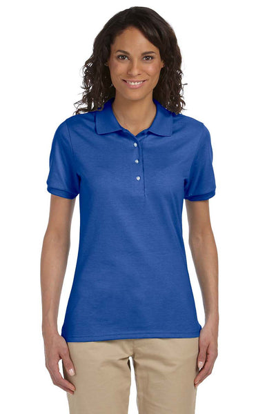 Jerzees 437W Womens SpotShield Stain Resistant Short Sleeve Polo Shirt Royal Blue Front