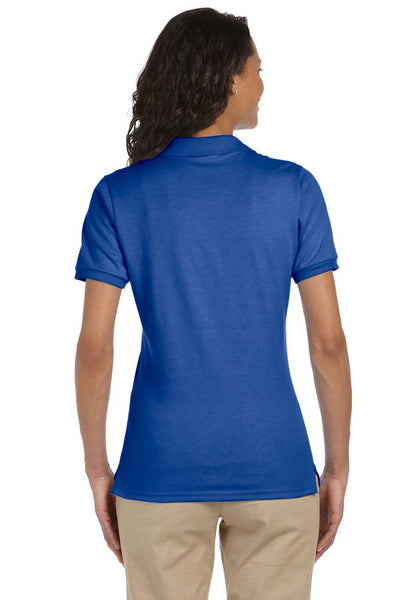 Jerzees 437W Womens SpotShield Stain Resistant Short Sleeve Polo Shirt Royal Blue Back