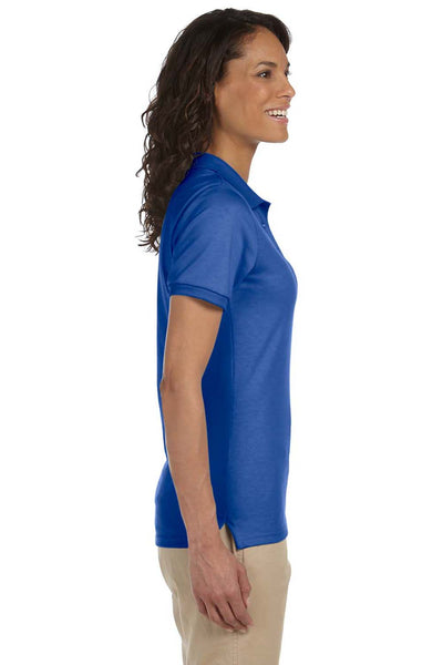 Jerzees 437W Womens SpotShield Stain Resistant Short Sleeve Polo Shirt Royal Blue Side