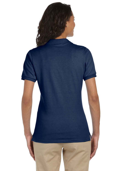 Jerzees 437W Womens SpotShield Stain Resistant Short Sleeve Polo Shirt Navy Blue Back