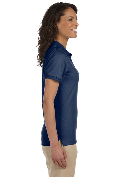 Jerzees 437W Womens SpotShield Stain Resistant Short Sleeve Polo Shirt Navy Blue Side