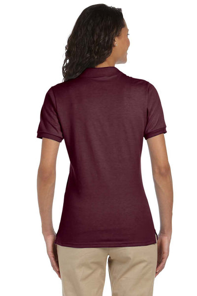 Jerzees 437W Womens SpotShield Stain Resistant Short Sleeve Polo Shirt Maroon Back
