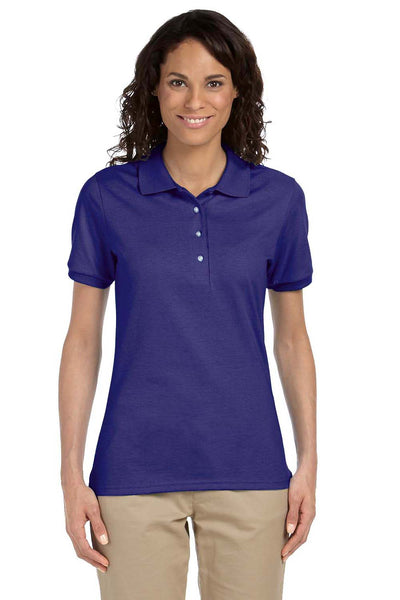 Jerzees 437W Womens SpotShield Stain Resistant Short Sleeve Polo Shirt Purple Front