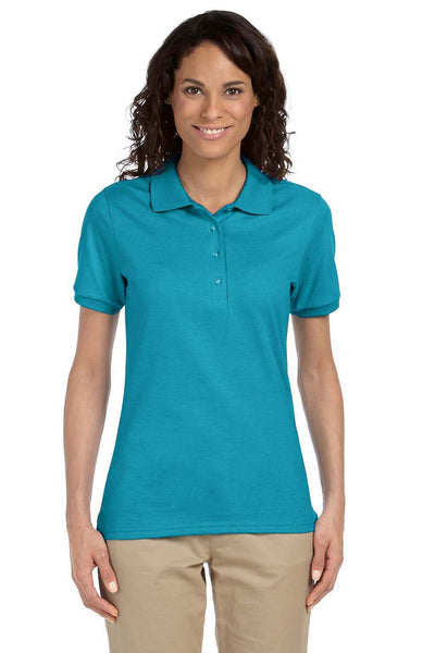 Jerzees 437W Womens SpotShield Stain Resistant Short Sleeve Polo Shirt California Blue Front