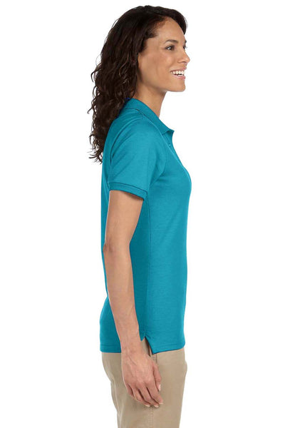 Jerzees 437W Womens SpotShield Stain Resistant Short Sleeve Polo Shirt California Blue Side