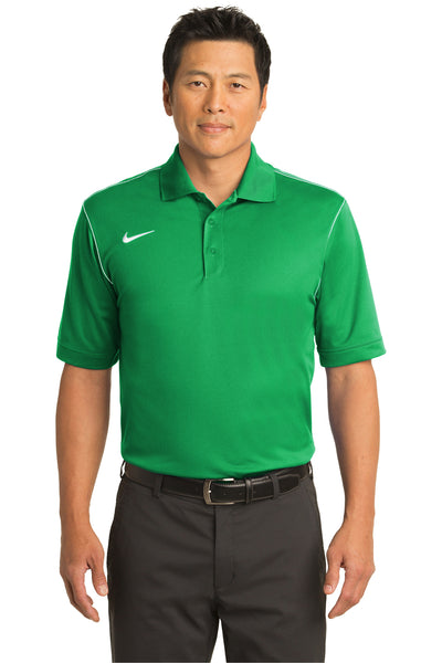 Nike 443119 Mens Sport Swoosh Dri-Fit Moisture Wicking Short Sleeve Polo Shirt Kelly Green Front