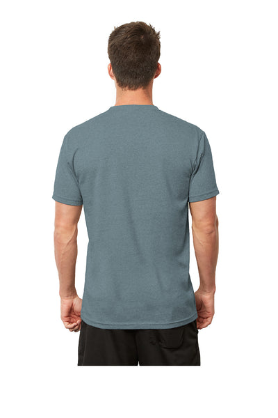 Next Level 4600 Mens Eco Short Sleeve Crewneck T-Shirt Heather Pacific Blue Back