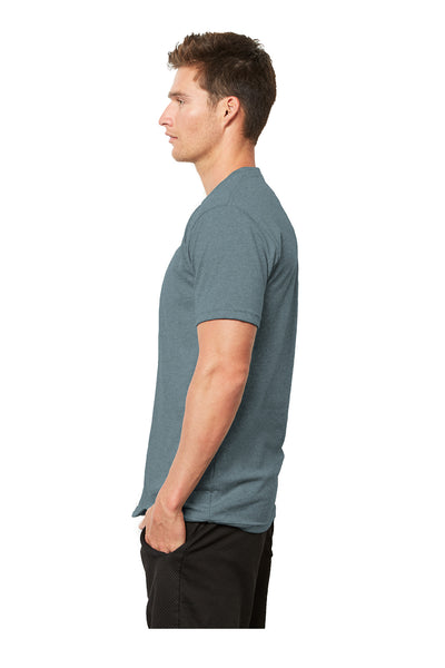 Next Level 4600 Mens Eco Short Sleeve Crewneck T-Shirt Heather Pacific Blue Side