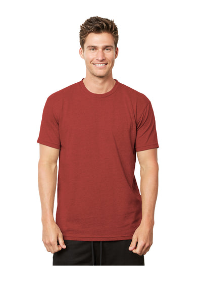 Next Level 4600 Mens Eco Short Sleeve Crewneck T-Shirt Heather Teja Red Front