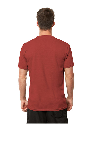 Next Level 4600 Mens Eco Short Sleeve Crewneck T-Shirt Heather Teja Red Back