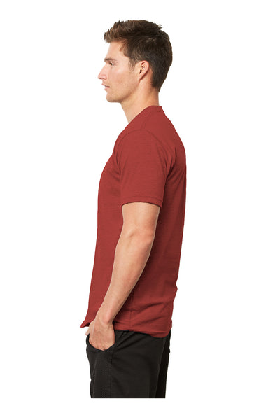 Next Level 4600 Mens Eco Short Sleeve Crewneck T-Shirt Heather Teja Red Side