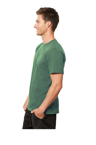 Next Level 4600 Mens Eco Short Sleeve Crewneck T-Shirt Royal Pine Green Side