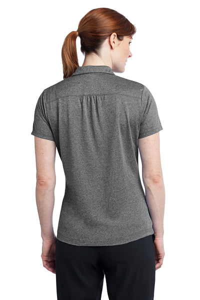 Nike 474455 Womens Dri-Fit Moisture Wicking Short Sleeve Polo Shirt Heather Carbon Grey Back