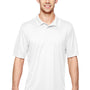 Hanes Mens Cool Dri Fresh IQ Moisture Wicking Short Sleeve Polo Shirt - White