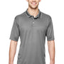 Hanes Mens Cool Dri Fresh IQ Moisture Wicking Short Sleeve Polo Shirt - Graphite Grey