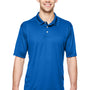 Hanes Mens Cool Dri Fresh IQ Moisture Wicking Short Sleeve Polo Shirt - Deep Royal Blue
