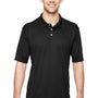Hanes Mens Cool Dri Fresh IQ Moisture Wicking Short Sleeve Polo Shirt - Black