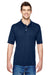 Hanes 4800 Mens Cool Dri Fresh IQ Moisture Wicking Short Sleeve Polo Shirt Navy Blue Front