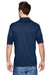 Hanes 4800 Mens Cool Dri Fresh IQ Moisture Wicking Short Sleeve Polo Shirt Navy Blue Back