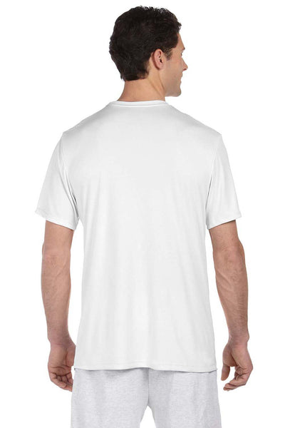 Hanes 4820 Mens Cool DRI FreshIQ Moisture Wicking Short Sleeve Crewneck T-Shirt White Back