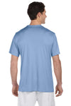 Hanes 4820 Mens Cool DRI FreshIQ Moisture Wicking Short Sleeve Crewneck T-Shirt Light Blue Back