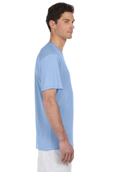 Hanes 4820 Mens Cool DRI FreshIQ Moisture Wicking Short Sleeve Crewneck T-Shirt Light Blue Side
