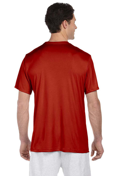 Hanes 4820 Mens Cool DRI FreshIQ Moisture Wicking Short Sleeve Crewneck T-Shirt Red Back