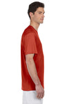 Hanes 4820 Mens Cool DRI FreshIQ Moisture Wicking Short Sleeve Crewneck T-Shirt Red Side