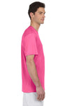 Hanes 4820 Mens Cool DRI FreshIQ Moisture Wicking Short Sleeve Crewneck T-Shirt Wow Pink Side
