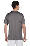 Hanes 4820 Mens Cool DRI FreshIQ Moisture Wicking Short Sleeve Crewneck T-Shirt Graphite Grey Back