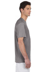 Hanes 4820 Mens Cool DRI FreshIQ Moisture Wicking Short Sleeve Crewneck T-Shirt Graphite Grey Side