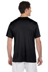Hanes 4820 Mens Cool DRI FreshIQ Moisture Wicking Short Sleeve Crewneck T-Shirt Black Back
