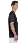 Hanes 4820 Mens Cool DRI FreshIQ Moisture Wicking Short Sleeve Crewneck T-Shirt Black Side