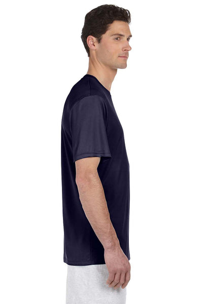 Hanes 4820 Mens Cool DRI FreshIQ Moisture Wicking Short Sleeve Crewneck T-Shirt Navy Blue Side