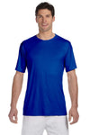 Hanes 4820 Mens Cool DRI FreshIQ Moisture Wicking Short Sleeve Crewneck T-Shirt Royal Blue Front