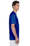 Hanes 4820 Mens Cool DRI FreshIQ Moisture Wicking Short Sleeve Crewneck T-Shirt Royal Blue Side