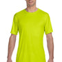 Hanes Mens Cool DRI FreshIQ Moisture Wicking Short Sleeve Crewneck T-Shirt - Safety Green