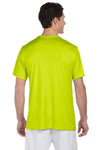 Hanes 4820 Mens Cool DRI FreshIQ Moisture Wicking Short Sleeve Crewneck T-Shirt Safety Green Back