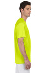 Hanes 4820 Mens Cool DRI FreshIQ Moisture Wicking Short Sleeve Crewneck T-Shirt Safety Green Side