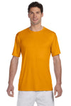 Hanes 4820 Mens Cool DRI FreshIQ Moisture Wicking Short Sleeve Crewneck T-Shirt Safety Orange Front