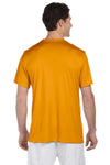 Hanes 4820 Mens Cool DRI FreshIQ Moisture Wicking Short Sleeve Crewneck T-Shirt Safety Orange Back